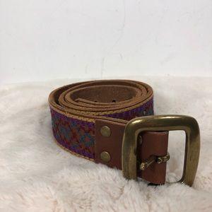 "Lucky Brand Belt Boho Embroidered 40"""